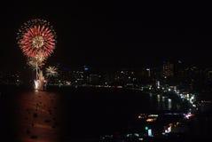 Pattaya International Fireworks Festival Stock Photo