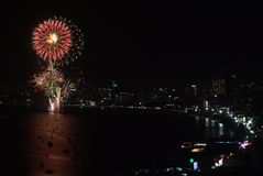 Pattaya International Fireworks Festival Stock Photography