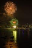 Pattaya internationell fyrverkerifestival Fotografering för Bildbyråer