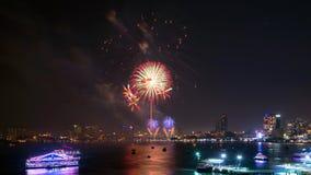 Pattaya internationell fyrverkerifestival Arkivfoto