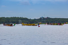 Pattaya Long Boat Racing Stock Photography