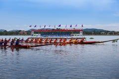 Pattaya Long Boat Racing Royalty Free Stock Photography