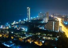 Pattaya miasta głąbik przy nocą obrazy stock
