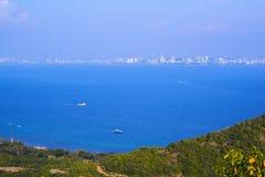 Pattaya miasta i plaży ptasiego oka widok, Chonburi, Fotografia Stock