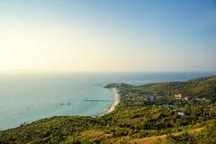 Pattaya miasta i plaży ptasiego oka widok, Chonburi, Obraz Royalty Free