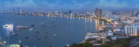 Pattaya miasta plaża Obrazy Stock