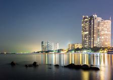 Pattaya miasto w zmierzchu czasie Fotografia Stock