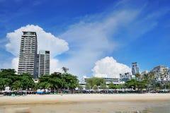 Pattaya miasto z, plaża i Obraz Royalty Free