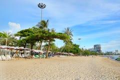 Pattaya miasto z, plaża i Zdjęcia Royalty Free