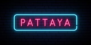 Pattaya neon sign. vector illustration