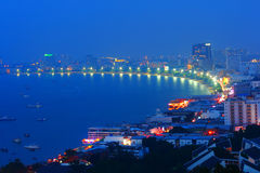 Pattaya night city of Thailand Stock Images
