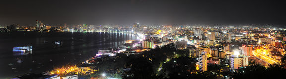 Pattaya at night Royalty Free Stock Photo