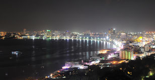 Pattaya night view Stock Images