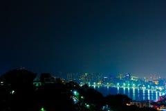 Pattaya på natten arkivfoton