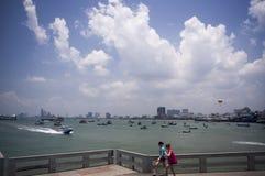 Pattaya port Arkivfoto