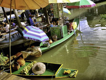 The Pattaya's 4 regions floating market Stock Photo