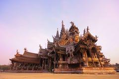 pattaya sanktuarium Thailand prawda Obrazy Royalty Free