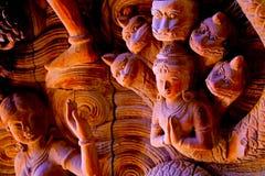 pattaya santuary sanning Royaltyfri Fotografi