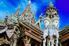 pattaya santuary sanning Arkivfoto