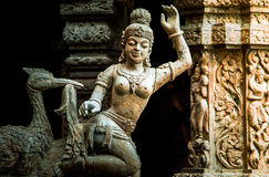 Pattaya : sculptured wood Royalty Free Stock Photo