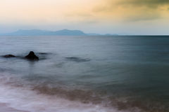 Pattaya Sea. A sea sight from Pattaya beach, Thailand Royalty Free Stock Photography