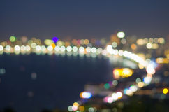 Pattaya seascape at twilight time, Blurred Photo bokeh Stock Photo