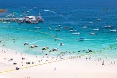 PATTAYA, SIERPIEŃ 30: plaża Koh Larn wyspa od punktu widzenia Koh Zdjęcia Stock