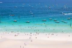 PATTAYA, SIERPIEŃ 30: plaża Koh Larn wyspa od punktu widzenia Koh Fotografia Royalty Free