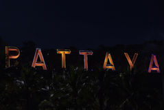 Pattaya sign Stock Image