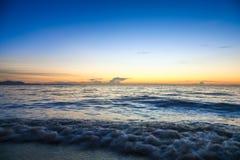 Pattaya solnedgång i sommar Royaltyfri Foto