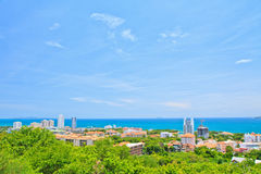 Pattaya stad Arkivfoto