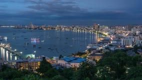 Pattaya stad i natten Royaltyfri Bild
