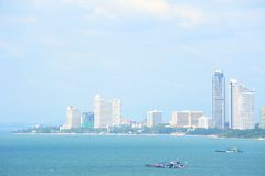 Pattaya stad i Thailand Royaltyfri Foto