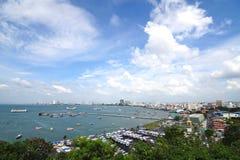 Pattaya stad i Thailand Fotografering för Bildbyråer