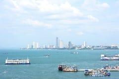 Pattaya stad i Thailand Arkivfoton