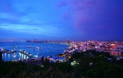 Pattaya stad i Thailand Arkivbild