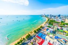 Pattaya stad och fjärd Arkivbild