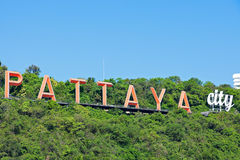 Pattaya stadstecken Royaltyfri Bild