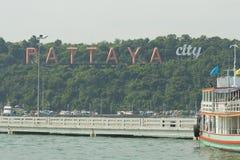 Pattaya stadstecken Arkivbild