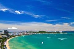 Pattaya strand Arkivbild