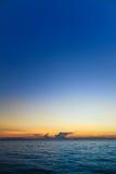 Pattaya strand och solnedgånghimmel Royaltyfri Bild