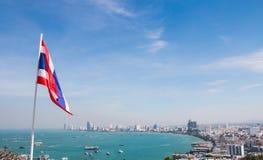 Pattaya-Strand und -stadt Lizenzfreies Stockbild