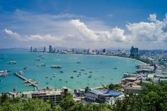 Pattaya-Strandstandpunkt Lizenzfreie Stockbilder