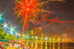 Pattaya, Tailândia - 31 de dezembro de 2012 - 1º de janeiro de 2013: Colorido Foto de Stock Royalty Free