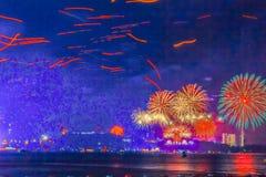 Pattaya, Tailândia - 31 de dezembro de 2012 - 1º de janeiro de 2013: Colorido Imagens de Stock Royalty Free