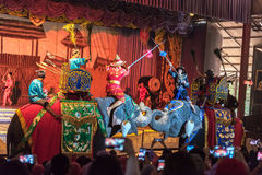 PATTAYA, TAILÂNDIA - 25 DE MARÇO: Cultura tailandesa e mostra tradicional Fotos de Stock