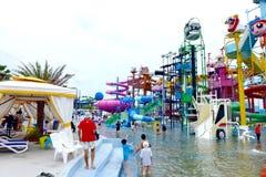 PATTAYA, Tailândia, o parque da água de Cartoon Network Amazone imagens de stock royalty free