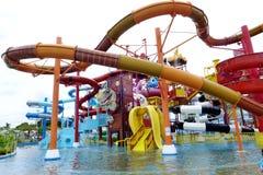 PATTAYA, Tailândia, o parque da água de Cartoon Network Amazone fotos de stock royalty free