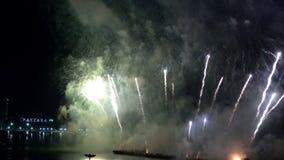 Pattaya Tail?ndia-maio, 24 2019 fogos de artif?cio internacionais mostra o festival 2019 video estoque