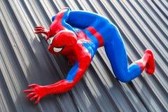Pattaya, Tailandia - 31 de diciembre de 2016: Modelo de Spider-Man Imágenes de archivo libres de regalías